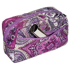KINGSLEY PURPLE PAISLEY SMALL COSMETIC BAG