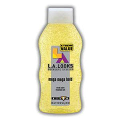L.A. LOOKS  MEGA HOLD GEL 20 OZ 13210