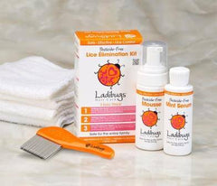 Ladibugs Hair Care Lice Elimination Kit 3 Piece
