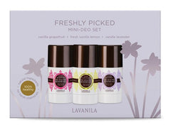 Lavanila Freshly Picked Mini Deodorant Set