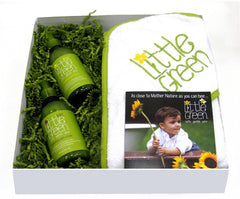 LITTLE GREEN BABY HOLIDAY GIFT SET WITH HOODED TOWEL $60 VALUE