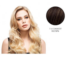 LuxHair HOW by Tabatha Coffey 10 Inch Circle Extension Darkest Brown