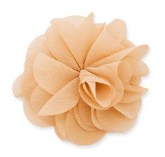 MIA FLOWER CLIP/PINS LARGE BEIGE