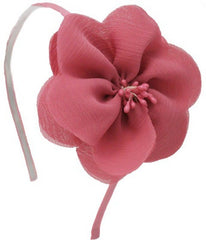 MIA FLOWER HEADBAND MAUVE
