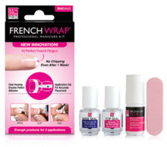 NAIL BLISS THIN WHITE FRENCH WRAP PLUS KIT