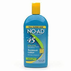 NO AD MAXIMUM SUNBLOCK LOTION SPF 45 16 OZ