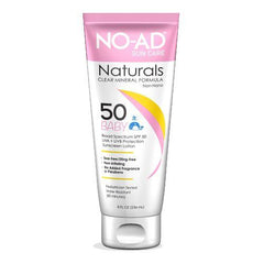 No Ad Naturals Baby SPF 50 Sunscreen 8 Oz