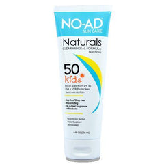 No Ad Naturals Kids SPF 50 Sunscreen 8 Oz