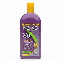 NO AD SUNBLOCK LOTION SPF 60 16 OZ