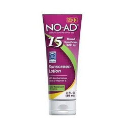 NO AD Sunscreen Lotion SPF 15 3 Oz