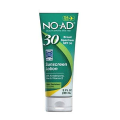 NO AD Sunscreen Lotion SPF 30 3 Oz