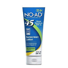 NO AD Sunscreen Lotion SPF 45 3 Oz