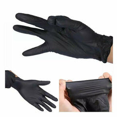 Fromm black nitrile gloves