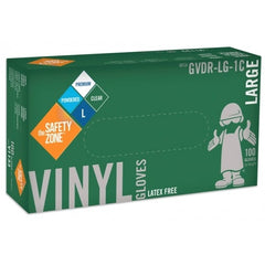 Safety Zone Vinyl Gloves Lightly Powdered 100 Count