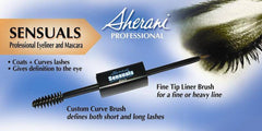 SHERANI SENSUALS CURL MASCARA AND LIQUID LINER-BROWN/BLACK .21 OZ./.2 OZ.