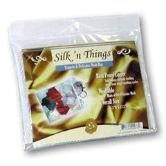 SILK`N THINGS ZIPPERED MESH BAG