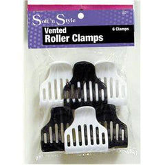 SOFT N STYLE ROLLER CLAMPS VENTED 6CT