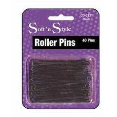 SOFT N STYLE ROLLER PINS BLACK 40 CD3131