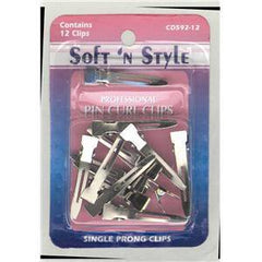 SOFT N STYLE SINGLE PRONGE CLIPS 12 CD592-12