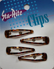 Sta Rite 2 Inch Tortoise Snap-eze Clips 4 Count