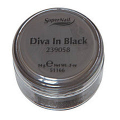 SUPER NAIL DIVA IN BLACK - BLACK ACRYLIC .5 OZ