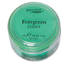 SUPER NAIL EVERGREEN GREEN ACRYLIC .5 OZ