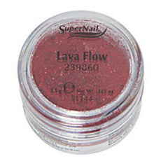 SUPER NAIL LAVA FLOW - RED GLITTER .125 OZ