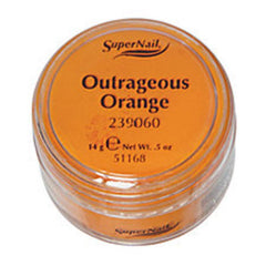 SUPER NAIL OUTRAGEOUS ORANGE - ORANGE ACRYLIC .5 OZ