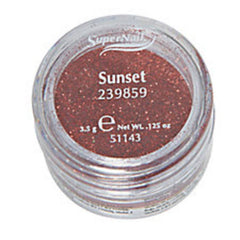 SUPER NAIL SUNSET - RED ORANGE GLITTER .125 OZ