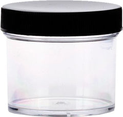 Tolco Clear Jar With Black Cap 2 Oz.