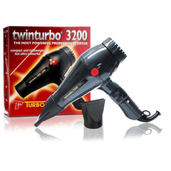Turbo Power Twin Turbo 3200 Hair Dryer-Grey