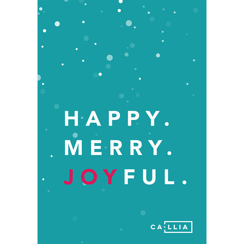 Happy Merry Joyful Card