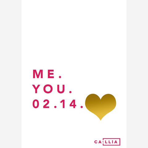Me. You. 02.14. Card