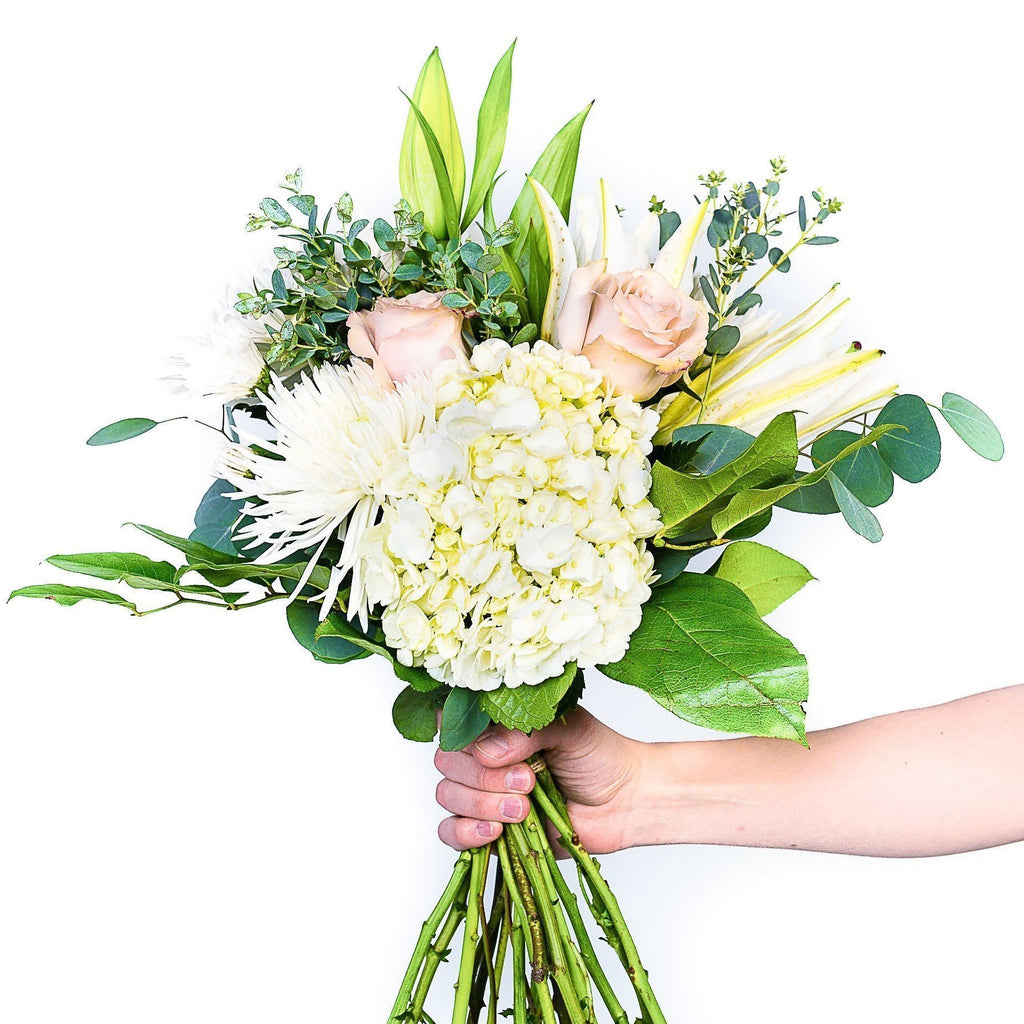 The grace white lilies hydrangea for delivery in calgary edmonton the grace mightylinksfo