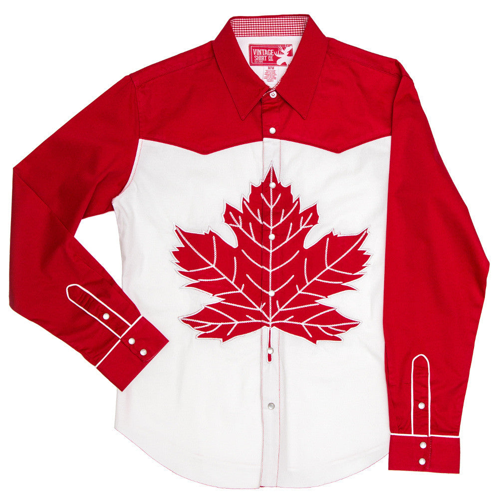 Distinctly Canadian - Men's Embroidered Western Shirt
