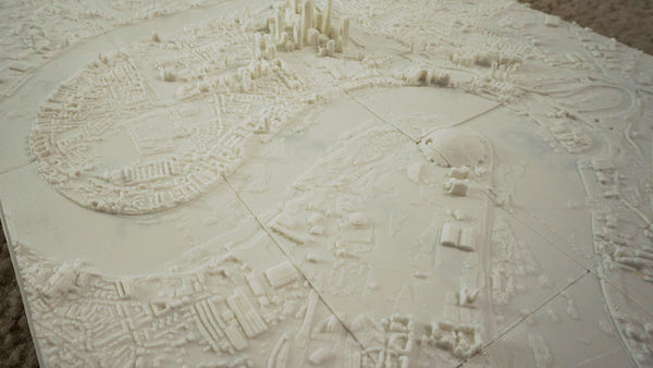 3d printed map of london