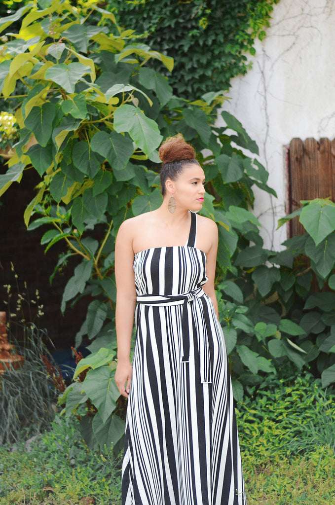 Iyana Stripe Dress - Fit for a Queen