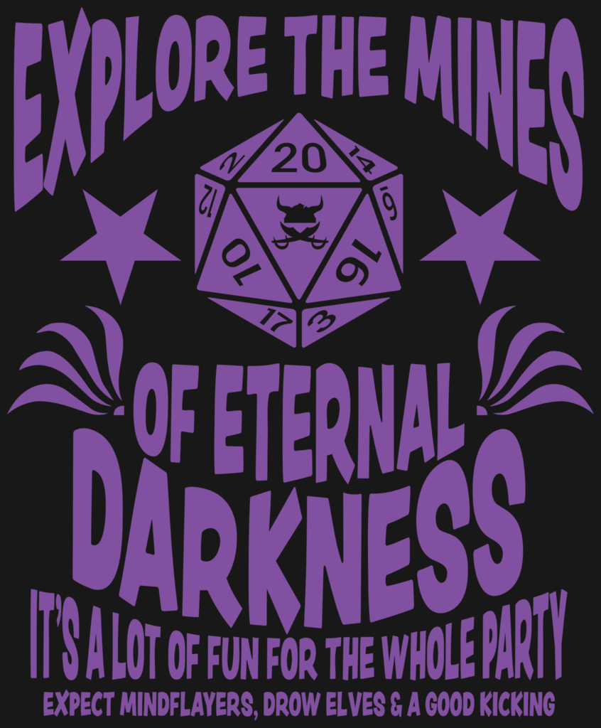 Mines of Eternal Darkness Art Print