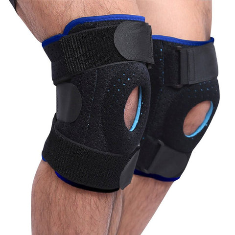 Plus Braces Knee Support - Meniscus Tear with Adjustable Strapping & Breathable Non-Slip Neoprene - (Single) 4 Sizes