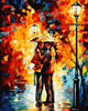Image of DIY Paint by Numbers Kit for Adults - Couple Under Umbrella
