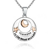 Image of I Love You to The Moon and Back Pendant Necklace - Best Jewelry Gift - 19""