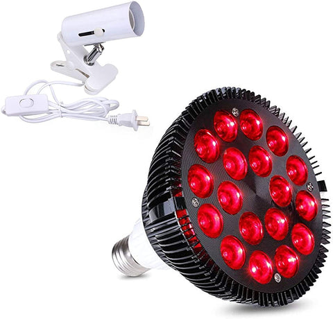 Red Light Therapy Lamp - Clamp and Bulb Set - 54W 18 LED
