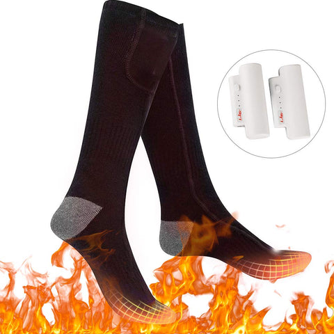 Heated Socks - Rechargeable Battery Boot Socks with - 3 Heating Levels