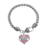 "Image of ""Nana"" Charm Crystal Bracelet - Adorable Nana Pink Heart Bracelet - Best Family Jewelry Gift"