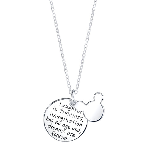 Laughter is Timeless, Imagination has no Age, and Dreams are Forever - Pendant Necklace