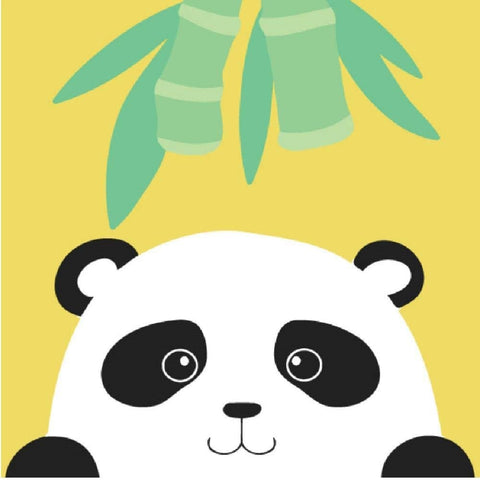"DIY Acrylic Painting, Paint by Number Kits for Kids Beginner - Panda Leaves 8"" x 8"""