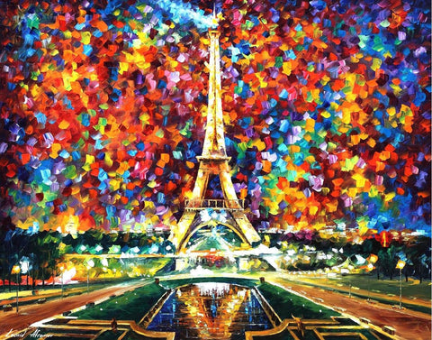 DIY Paint by Numbers Kit for Adults - Eiffel Tower