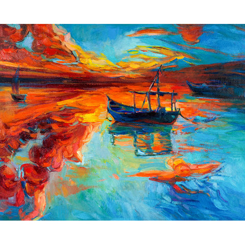 5D Diamond Painting by Number Kit Summer Boat