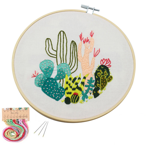 Embroidery Starter Kit with Pattern - Cactus