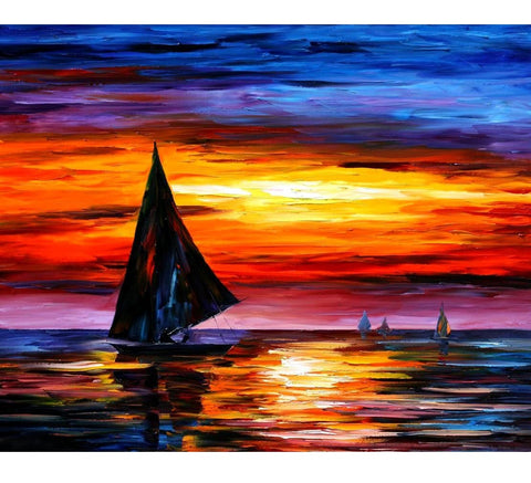 DIY Paint by Numbers Canvas Painting Kit for Kids & Adults - Crying Sunset